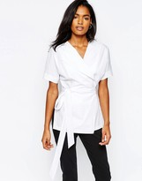 Whistles Kelso Wrap Shirt in Poplin