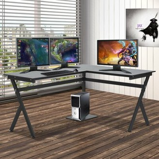 Ebern Designs Highcliffe Manufactured Wood L-Shape Computer Desk