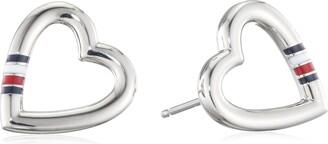 Tommy Hilfiger Women's Stainless-Steel Open Heart Stud Earrings