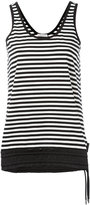 Moncler striped tank top - women - Cotton/Polyamide/Spandex/Elastane - XS