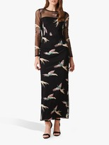 Phase Eight Collection 8 Astrid Bird Dress, Black