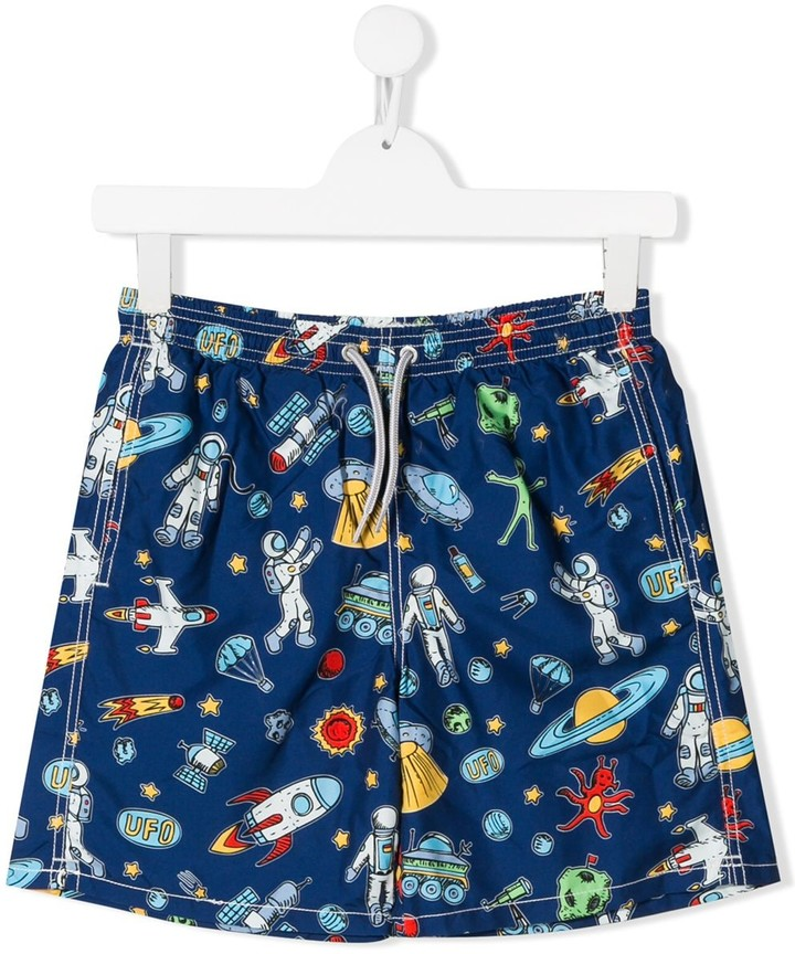 MC2 Saint Barth Kids space print swimming shorts