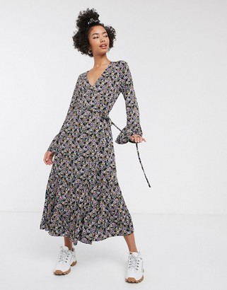 Gestuz Faya disty floral print midi dress
