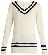 Frame Varsity V-neck wool and cashmere-blend sweater