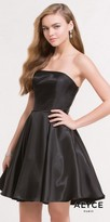 Alyce Paris Strapless Fit and Flare Mikado Homecoming Dress