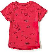 True Religion Big Girls 7-16 Doodle Printed Dolman Tee