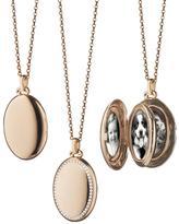 Monica Rich Kosann 18k Rose Gold & Diamond Locket Necklace