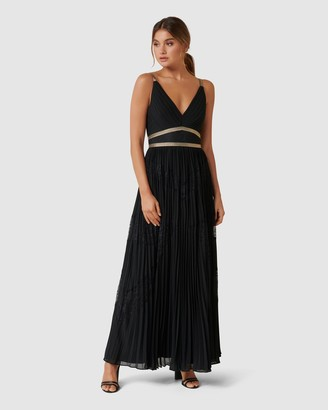 Forever New Kayla Spliced Pleated Maxi Dress