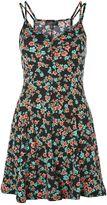 Topshop Spot & Floral Print Swing Dress