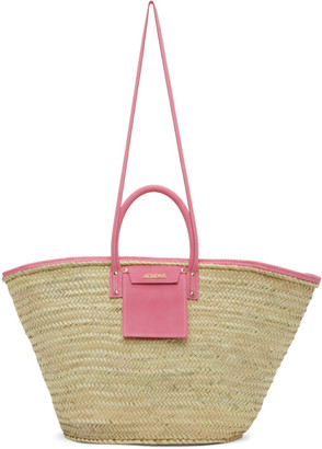 Jacquemus Beige and Pink Le Grand Panier Soleil Tote