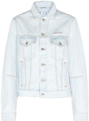 Off-White Light blue cut-out denim jacket