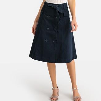 Anne Weyburn Flared Midi Skirt