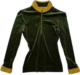 Moschino Cheap & Chic Moschino Cheap And Chic Green Velvet Top for Women Vintage
