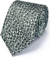Khaki Silk Classic Abstract Texture Tie Size Osfa By Charles Tyrwhitt