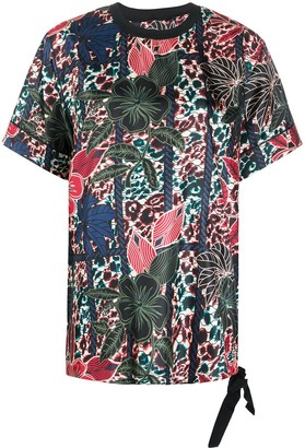 Moncler oversized floral-print T-shirt