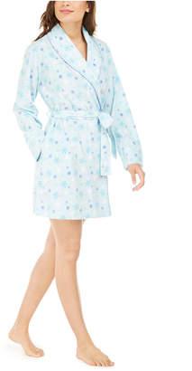 Muk Luks Women Cozy Short Fleece Robe