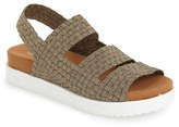 Bernie Mev. Women's 'Crisp' Woven Platform Sandal