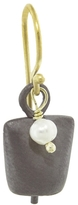 IaM by Ileana Makri Single Oxidized Bell Earring - Pearl Drop