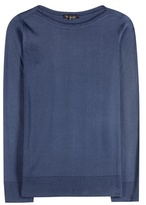 Loro Piana Scollo Barca Silk And Cotton-blend Sweater