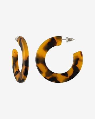 Express Machete Tortoise Kate Hoop Earrings