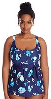 BEACH HOUSE WOMAN Women's Plus-Size Bethany Beach Darcy A-Line Underwire Tankini