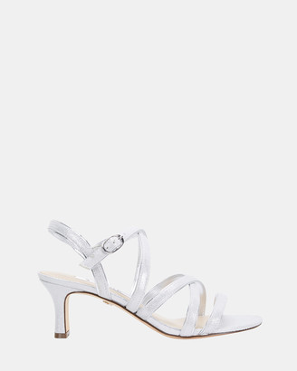 Nina Women's Silver Open Toe Heels - Genaya - Size One Size, 7 at The Iconic