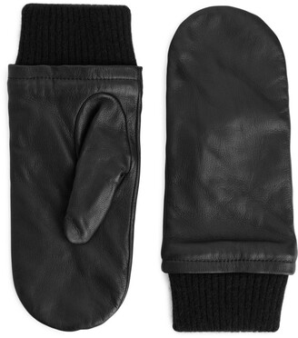 Arket Wool-Lined Leather Mittens