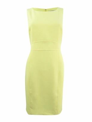 Kasper Women's Petite Solid Crepe Sheath Dress