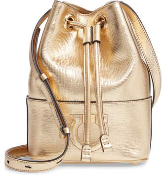 Salvatore Ferragamo City Quilted Gancio Bucket Bag