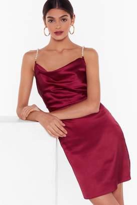 Nasty Gal Womens Studio Pearls Just Wanna Have Fun Mini Dress - black - 14
