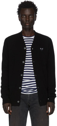 Comme des Garcons Black Heart Patch V-Neck Cardigan