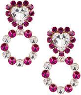 Ninon Queen of Hearts Crystal Earrings in Fuchsia | FWRD