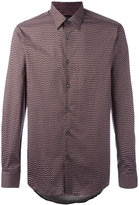Pal Zileri geometric print shirt - men - Cotton - 39