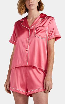 Morgan Lane Women's Katelyn Silk Pajama Top - Dark Pink