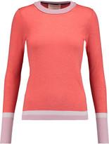 Roksanda Color-block wool, silk and cashmere-blend sweater