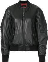 G.V.G.V. lace-up detail bomber jacket