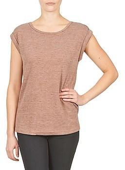 Color Block 3203417 women's T shirt in Beige