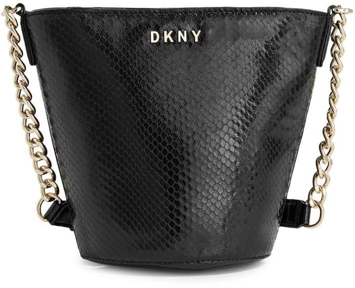 DKNY Kim Leather Bucket Bag