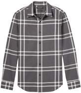 Banana Republic Grant Slim-fit Flannel Plaid Shirt