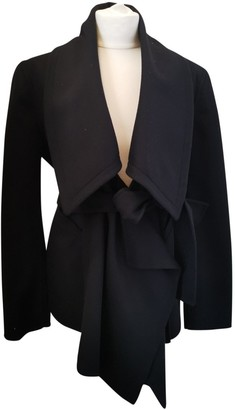 Burberry Black Wool Jackets