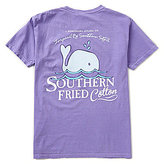 Southern Fried Cotton Mens Baby Whale Graphic Pocket Tee
