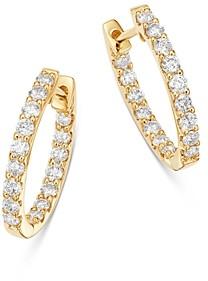 Bloomingdale's Diamond Inside-Out Oval Hoop Earrings in 14K Yellow Gold, 1.0 ct. t.w. - 100% Exclusive