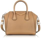 Givenchy Antigona Small Beige Leather Satchel Bag