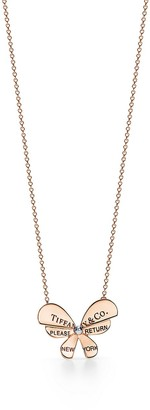 Tiffany & Co. Return to TiffanyTM Love Bugs butterfly pendant in rose gold and sterilng silver