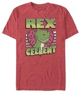 Fifth Sun Tee Shirts RED - Toy Story Red Heather 'Rex-Cellent' Heart Tee - Adult
