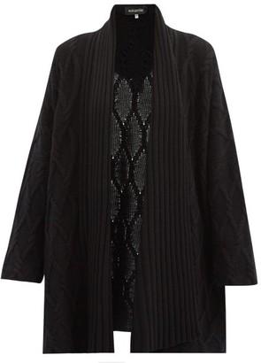 eskandar Trellis-knit Cashmere Cardigan - Black
