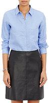 Barneys New York Women's Slub Voile Shirt-LIGHT BLUE