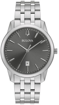 Bulova Men's Classic Sutton Stainless Steel Bracelet Bracelet Watch 40mm