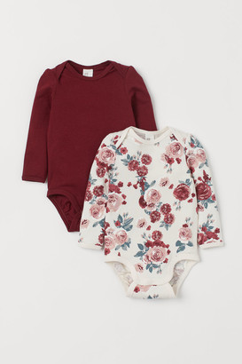 H&M 2-Pack Puff-Sleeved Bodysuits