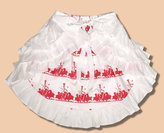 Red May Pole Reversible Skirt